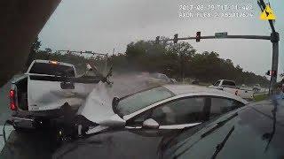 Deputies Assisting In Crash Hit By Second Car Crash