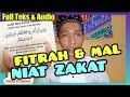 NIAT ZAKAT FITRAH & MAL || FULL TEKS & AUDIO
