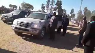 Arrival of chamisa in millitary movie style