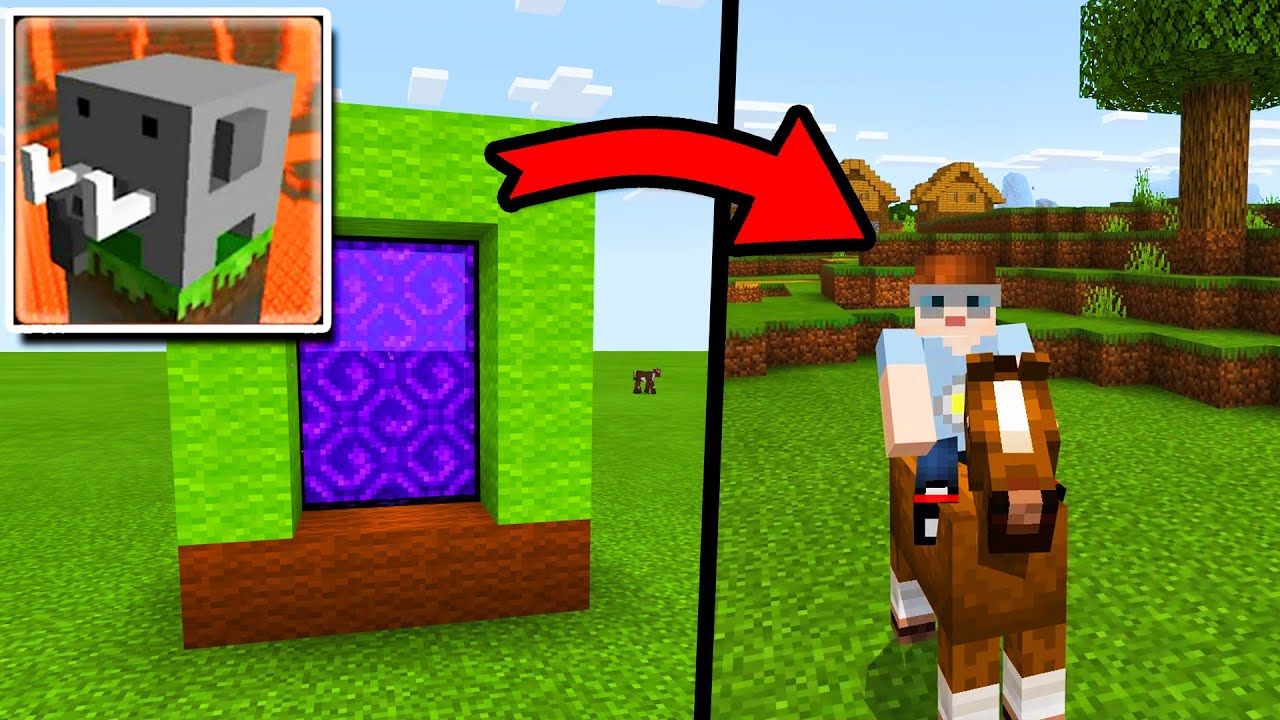 Craftsman: How To Make REAL PORTAL To Minecraft PE Dimension (Craftsman: Building Craft)