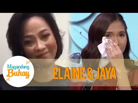 Magandang Buhay: Elaine becomes emotional as she hears her mother and Jaya's messages