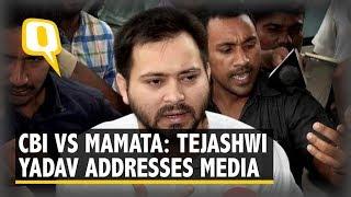 CBI vs Kolkata Police: Mamata Banerjee, Kanimozhi and Tejashwi Yadav Addresses Media