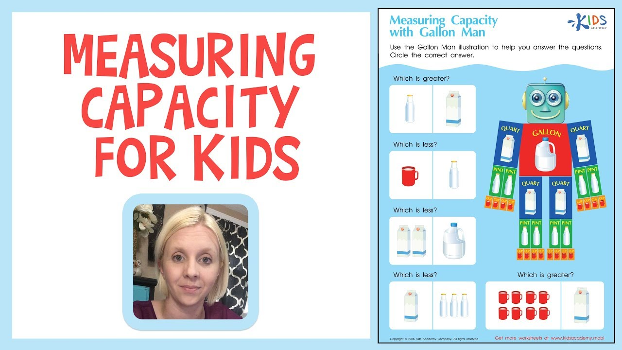 Measuring Capacity for Kids   Capacity Lessons - Gallons [ 720 x 1280 Pixel ]