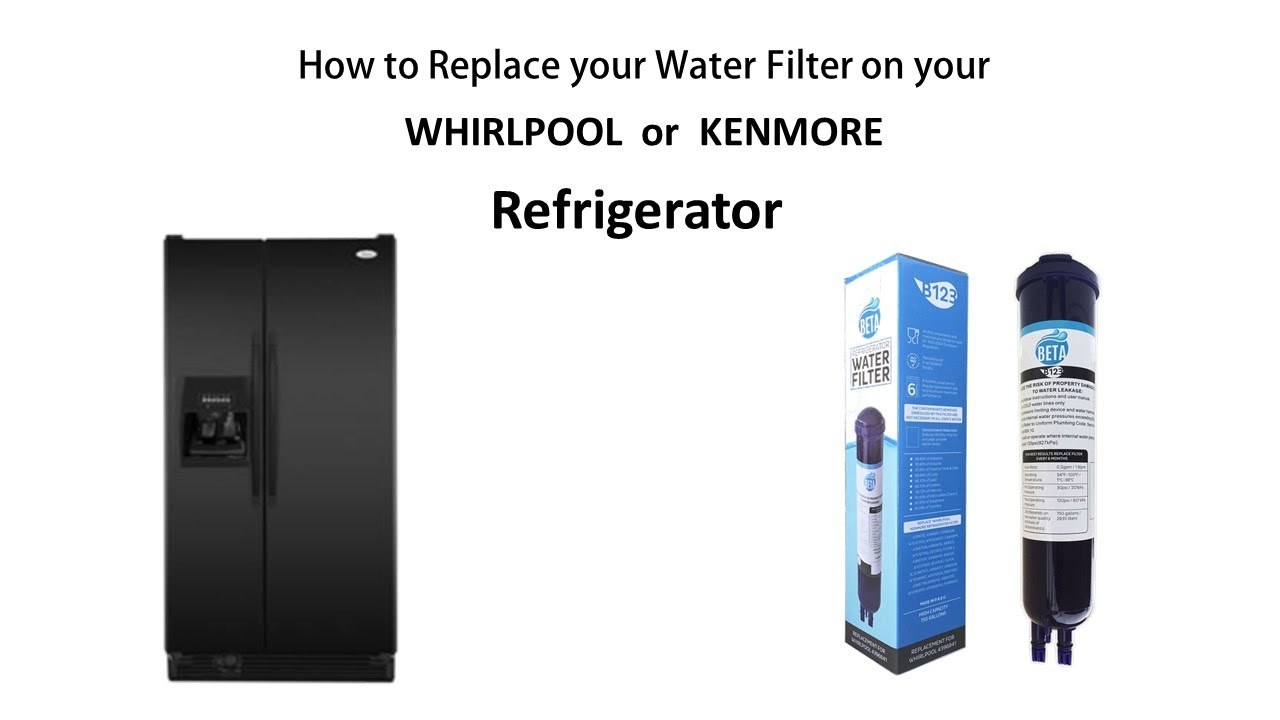 How to Remove and replace the water filter on your compatible