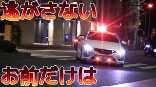 凄い勢いでサイレンと共に飛び出すスーチャー覆面パトカー!下道では世界に1台!白マークXスーパーチャージャー Japanese Unmarked Cop Car MARK X SUPER CHARGER