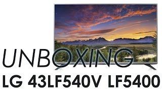 01. LG 43LF540V LF5400 HDTV unboxing