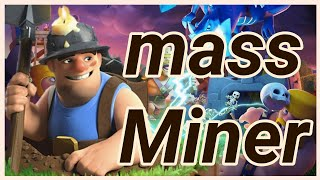 TH 12 Miner Spam fights 3 Star attacks clash of clans COC 2018 CW