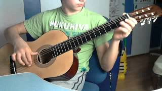Видеоурок игры на гитаре.Песня На матушке Неве реке.