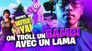 ON TROLL UN BAMBI AVEC UN LAMA | TRIO VS SQUAD | 31 KILLS