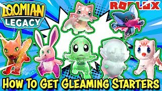 How To Get FREE *GLEAMING* STARTERS in Loomian Legacy (Roblox) - Rare Beginner Loomians