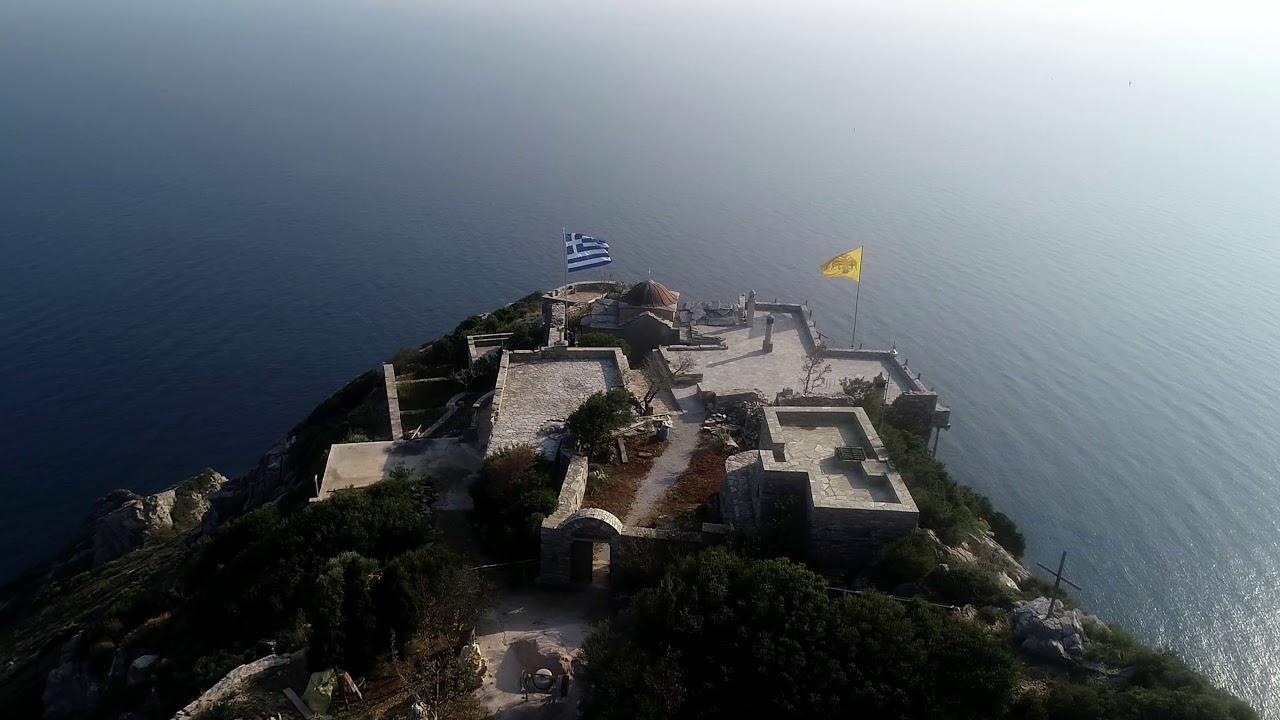 Ιερό Ησυχαστήριο Αγίου Μηνά, Βίγλα, Άγιον Όρος (Βίντεο από drone) | Σημεία  Καιρών