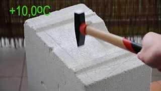 Chłonność wody oraz odporność na zamrażanie bloczków z betonu, betonu komórkowego i ceramiki.