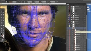 1200 Guide 10 • Gradient Mesh Face Tutorial Movie 1 • Initial Mesh Construction