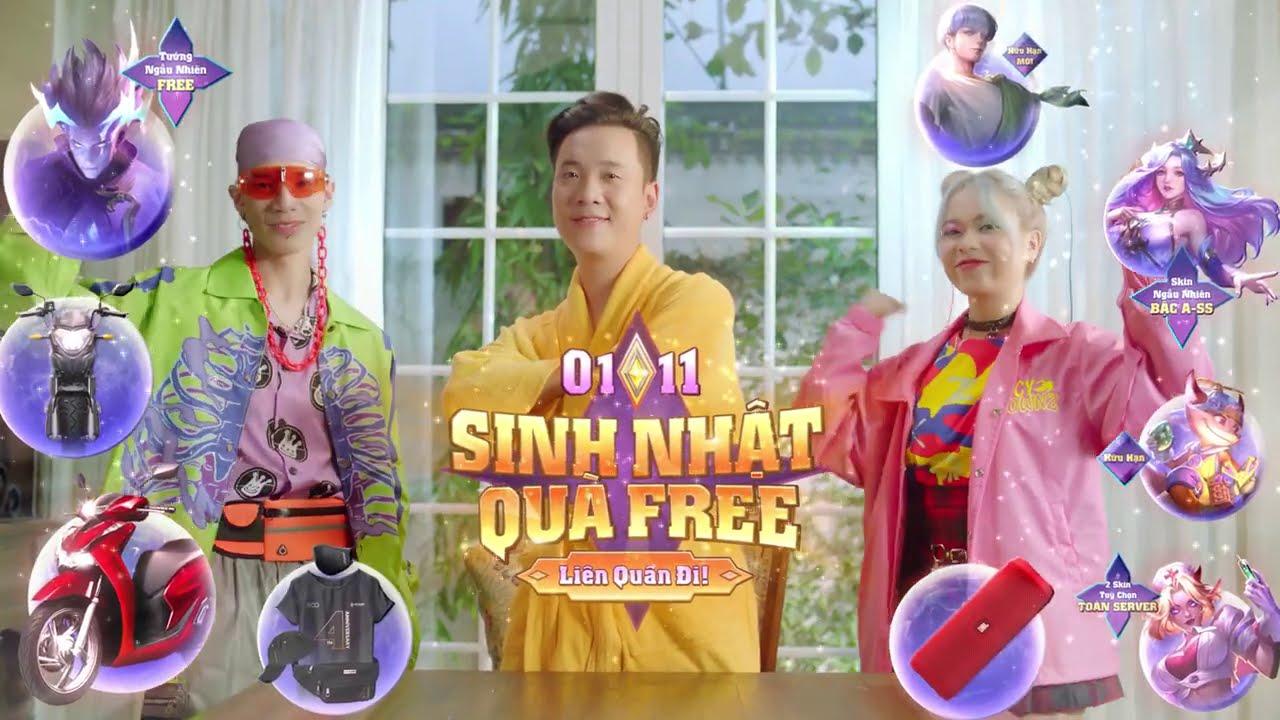 Cùng bộ ba Rap Việt săn quà Liên Quân – Garena Liên Quân Mobile