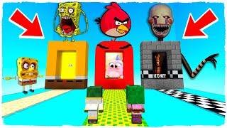 ¡NO ELIJAS LA DIMENSIÓN EQUIVOCADA! Bob Esponja .exe, Angry Birds y FNAF en Minecraft