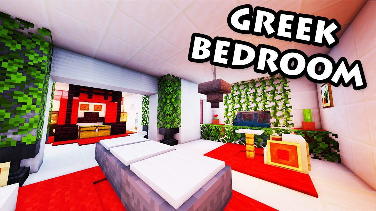Minecraft tutorial 32 greek house how to build a for Greek bedroom designs