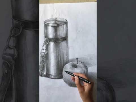 Karakalem obje çizimi, resim kursu, atölye d3