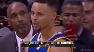 Steph Curry throws mouthpiece at a Cavs fan - NBA 2016 Finals Game 6 (FULL VIDEO)