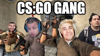 CS:GO GANG   xQc Plays Counter Strike with Tyler1, Greek, Moxy, and NMP