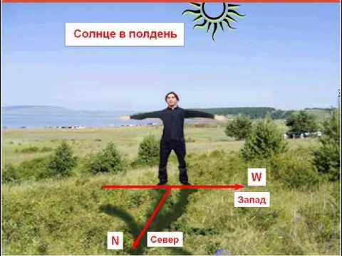 2  Ориентирование по Солнцу