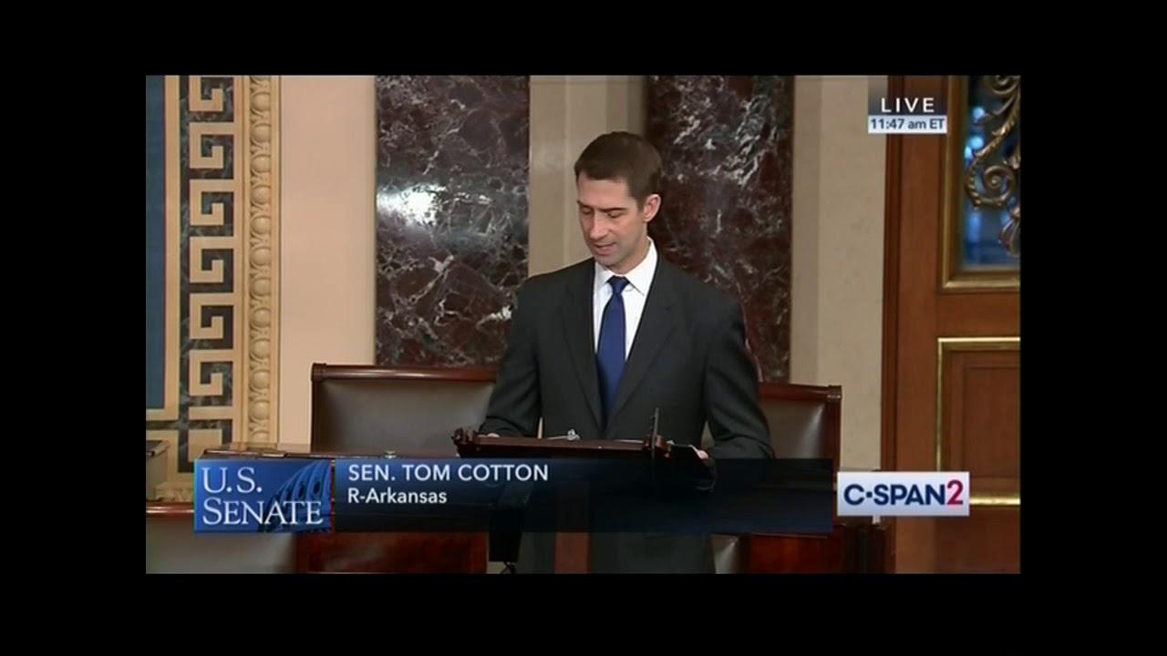 Sen. Cotton Denounces Corporate Activism on Abortion