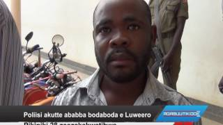 Poliisi ekutte ababba bodaboda e Luweero