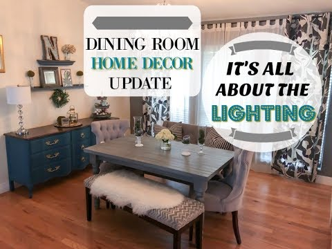 DINING ROOM DECOR UPDATE| Farmhouse Glam with Lamps Plus| Megan Navarro