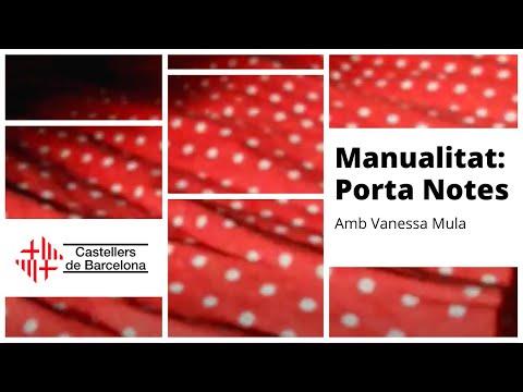 Castellers de Barcelona Confinats | Manualitat: Porta Notes amb Vanessa Mula