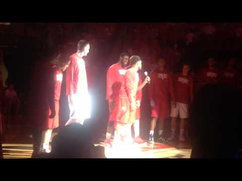 "Intro of Nebraska's ""Meet the Huskers"" event"