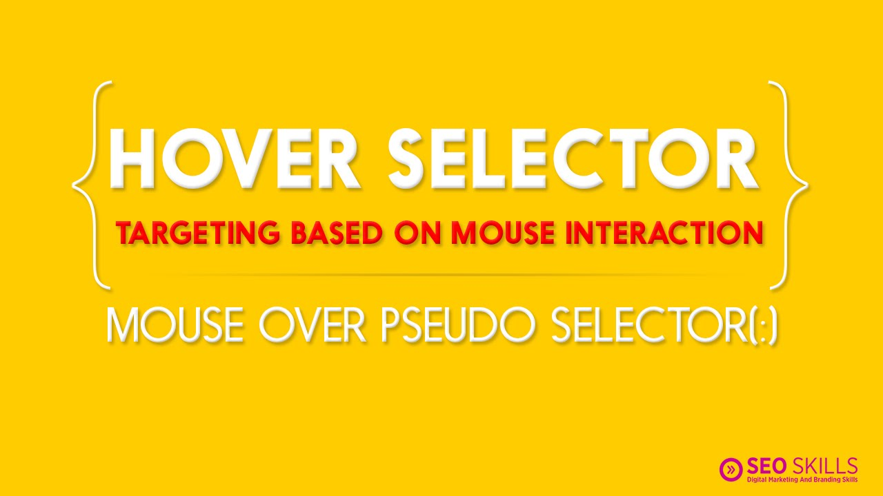 Mouse over CSS effects - Hover Pseudo Selector - CSS Tutorials in Telugu