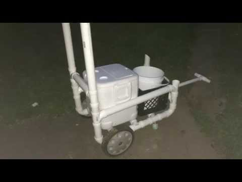 Ocean Beach Surf Fishing Cart- How To Build One