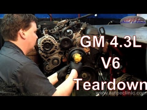 gm ( chevrolet or gmc ) 4 3 l v6 engine tear down