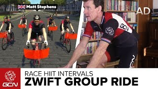 Zwift Group Workout: HIIT Intervals | Train With GCN