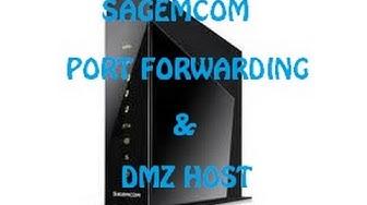 Sagemcom Ruter Port Forwarding & DMZ Host tutorial HUN