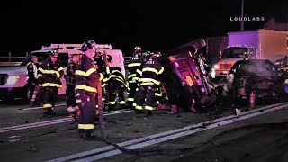 VZ BRIDGE: Two Trapped in Overturned Vehicle