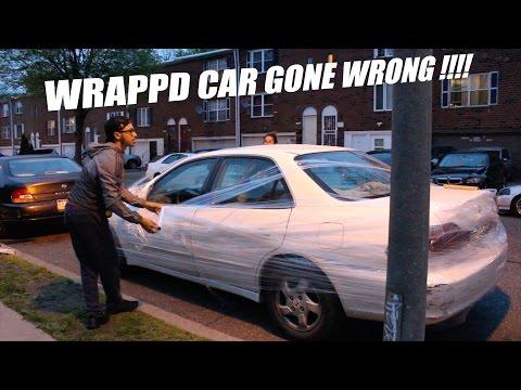 Saran Wrap CAR PRANK !! (FAIL)