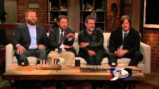 Cast of The Walking Dead asked questions on Season 6 Finale [Part 2] HD 1080P
