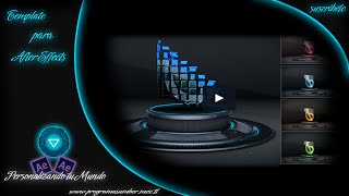 Intro template para After Effects // 3D Logo on Stage