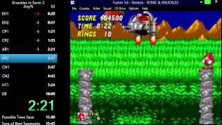 Knuckles in Sonic 2 - Aquatic Ruin 2: 0:33 (Speed Run)
