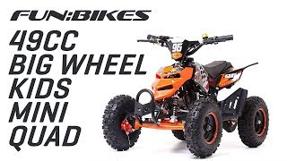 FunBikes 49cc Orange Kids Big Wheel Mini Quad Bike