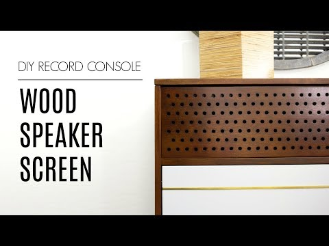WOOD Speaker Screen | How to Build Record Console Pt. 2