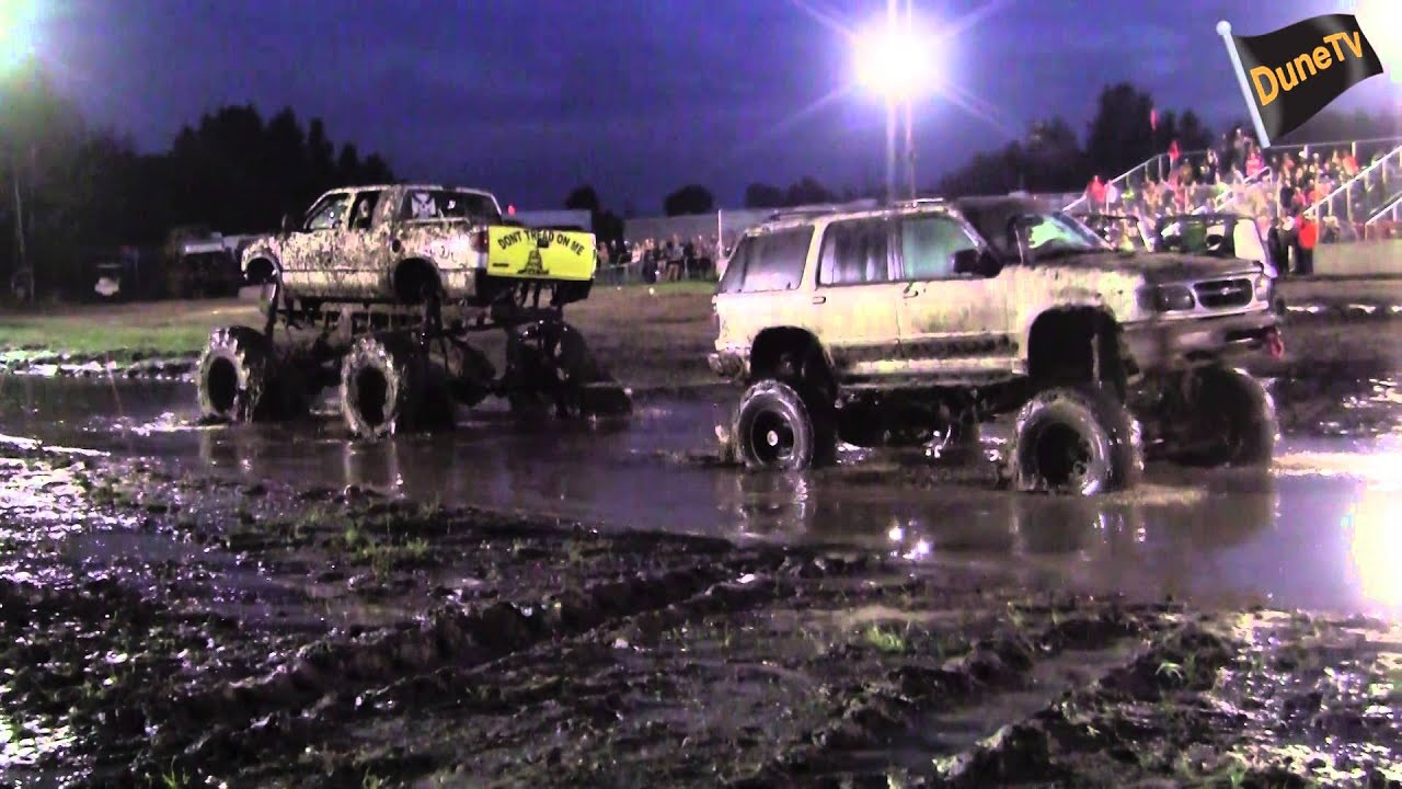 Trucks Gone Wild Michigan >> Wimpy Ford with a Woman Driver Destroys Chevy Mega Truck - YouTube