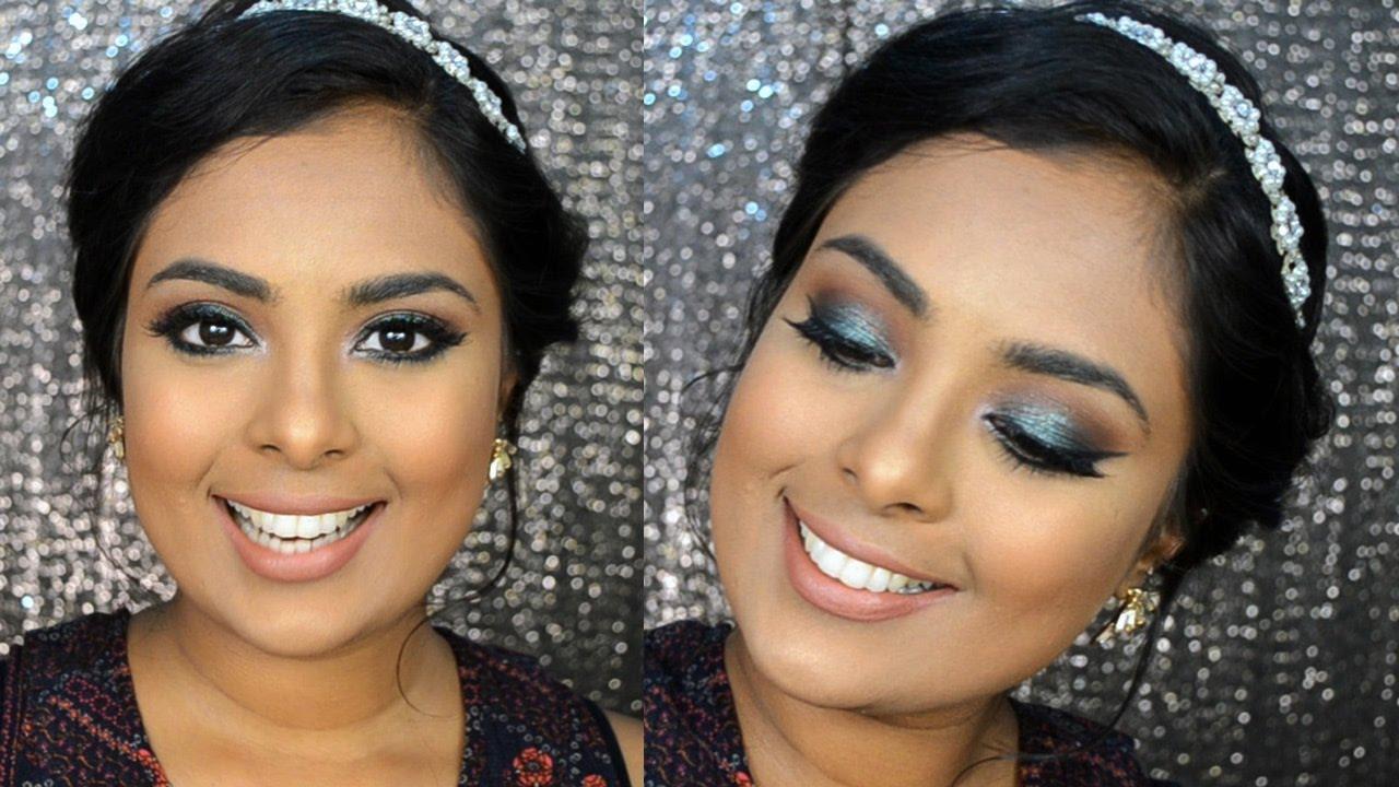 Emerald Green Sparkly Smokey Eyes - Eid Makeup Tutorial using Urban ...