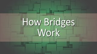Simple explanation to how bridges work.