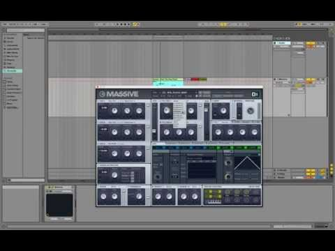 How to use MASSIVE Synth Check Tutorial Sound design Ableton Live 9