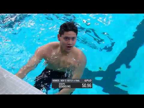 Joseph Schooling's 50.96 100m Butterfly