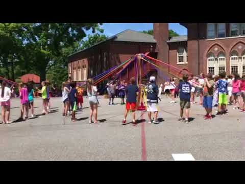 Pelham  NY Siwanoy School May Pole Dance 5th graders May 12, 2018