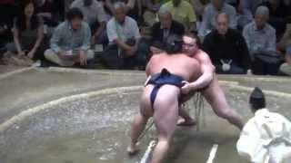20140524 白鵬vs鶴竜 白鵬貫禄の1敗堅持 大相撲夏場所14日目.