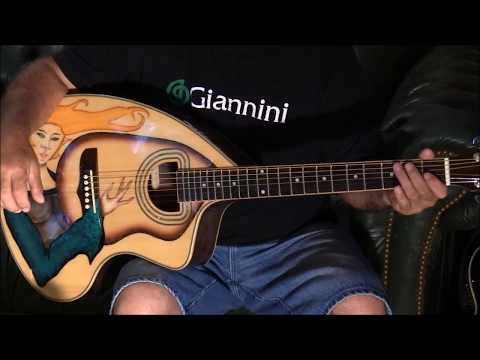 Giannini Craviola Custom Painted Guitar Demo