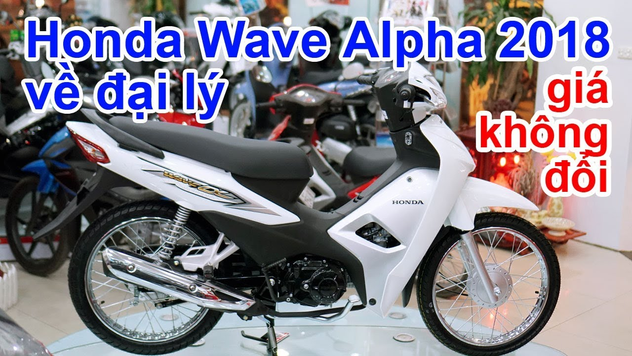 Đánh giá nhanh Honda Wave Alpha 2018 tại đại lý